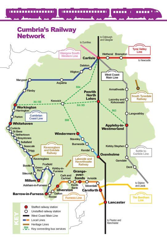 Cumbria rail network