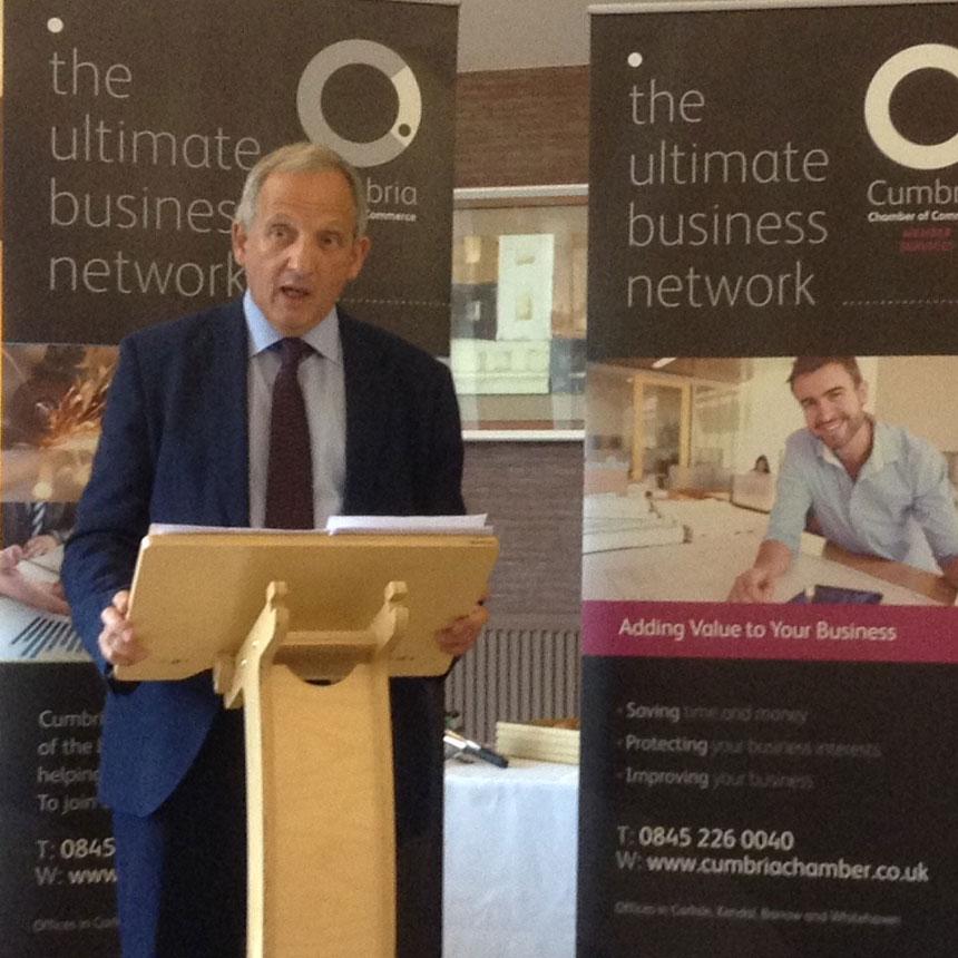 Sir Jon Cunliffe speaking in Kendal